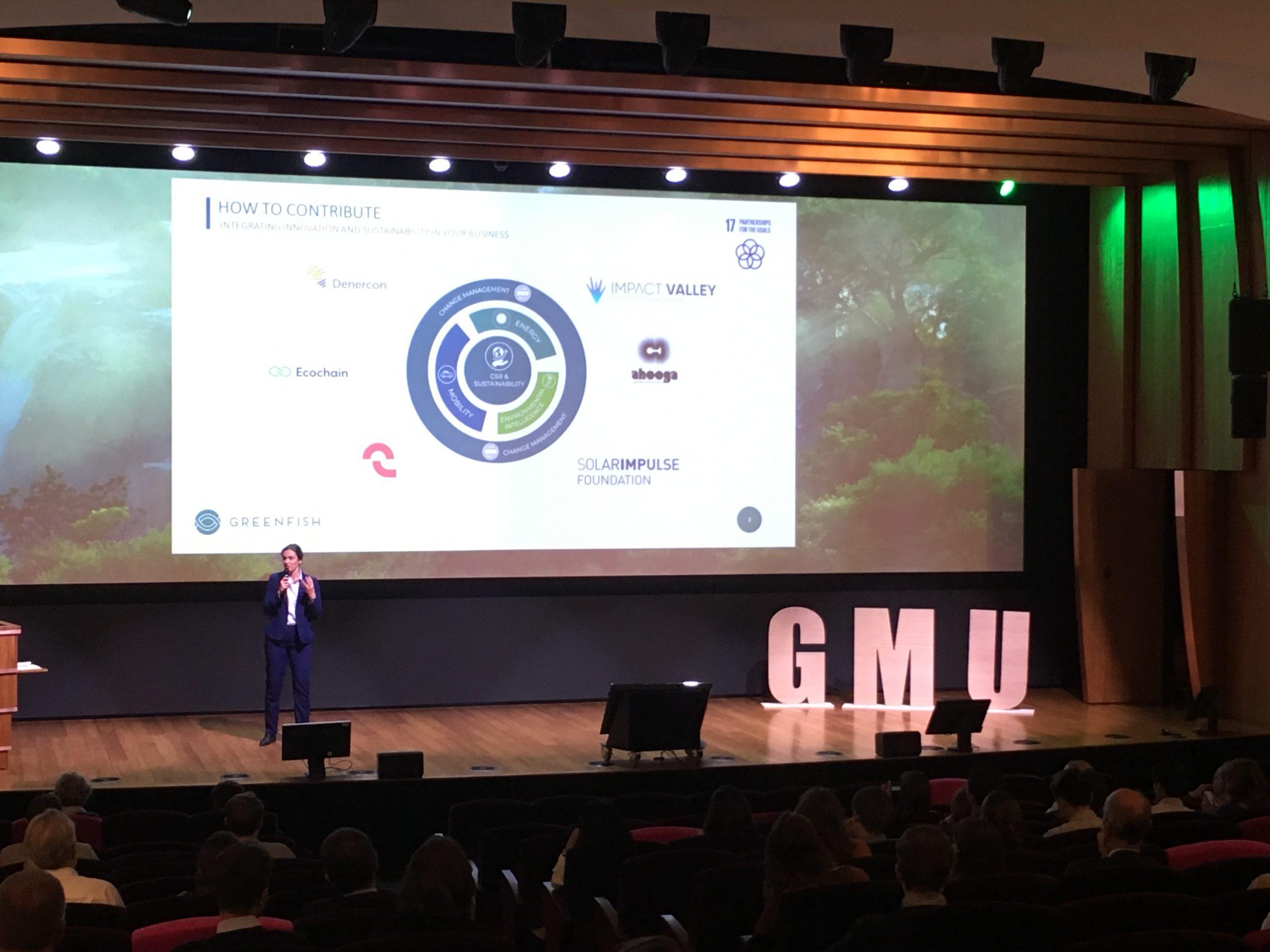 speaker on stage greenfish